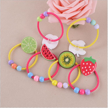 New Women Elastic Hair Bands Fashion Jewelry Hair Accessories Headbands Imitated Fruit Ponytail Ball Scrunchy Girl Baby Rope Gum
