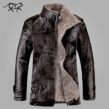 2017 New Brand PU Leather Jacket Men Winter Jackets and Coats Thickening Wool Windbreak Warm Jaquetas De Couro Coat Plus Size3XL(China)