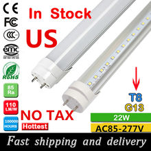 CE 2ft/4ft 1200mm G13 T8 led tube light 10W 20W 22W 28W high luminous flux led fluorescent T8 AC85-265V free shipping