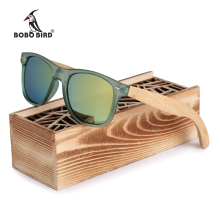 BOBO BIRD Brand Luxury Men and Women Polarized Sunglasses Bamboo Wood Holder Sun Glass with Retail Wood Box as Gifts 2017 G029(China)