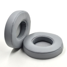 Replacement Earpads Cushion Cover Cup for Beats by Dr. Dre Solo 2.0 Solo 2 On-Ear Wireless / Wired Headphones Grey