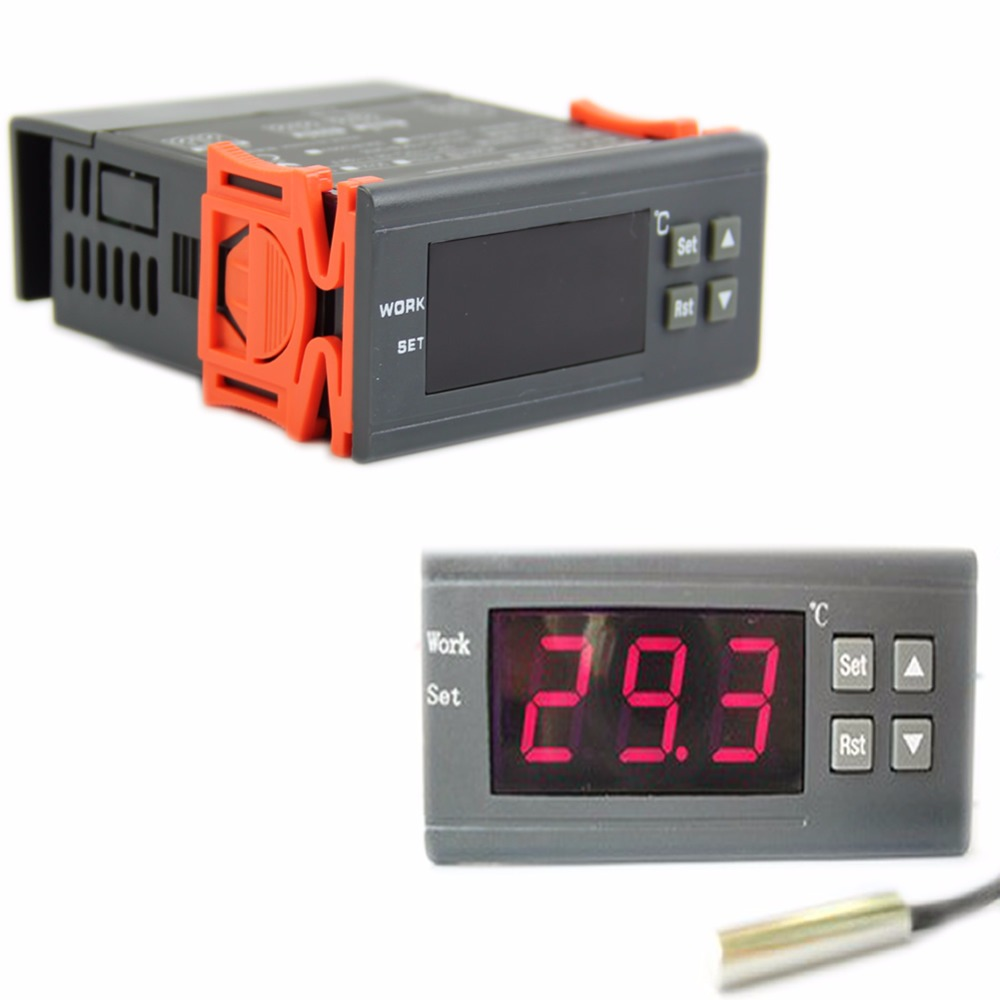 12V Digital Temperature Controller Thermostat w/Sensor Control Relay S08 Drop ship