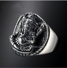 Silver ring elephant yes pinky ring thai silver women's ring boys belt(China)