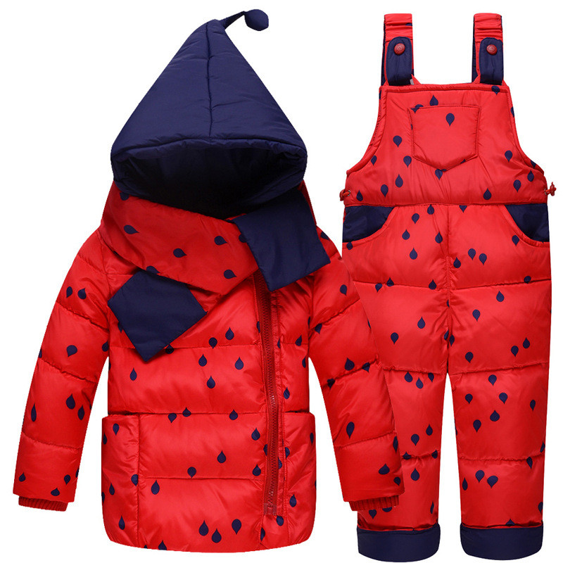 Winter Girl Boy Coat Rompers Sets Vetement Enfant Tracksuit Newborn Layette Jumpsuit Baby Snowsuit Thicken Kids Clothes Suit<br>