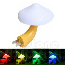 YAM Soft Romantic Mini Mushroom Sensor Night Light Home Decor Baby Room Bed Lamp Lightweight and Shatter-Resistant