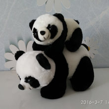 Free shipping 1pcs 30cm=11.8inch Giant Panda Stuffed animals Plush Toys Soft Doll For Birthday Gift
