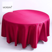 Cheap Plain Round Table Cloth New Year's Tablecloth On The Table Polyester Luxury Wedding Coffee Dining Hotel Free Shipping(China)