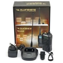 Free Shipping NEW QuanSheng TG-UV2 Military Walkie Talkie 5W Power 2000mAh Battery High Quality Professional Two Way Radio