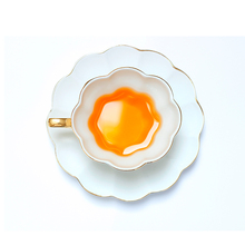 200ml ceramic gold brief coffee cup Sweet fashion coffee cup set afternoon tea cup