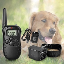 New Arrival !!100LV Level Rechargeable LCD Shock Vibra Remote Pet Dog Cat Training Collar 300 Yard