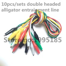 10pcs Line length 50cm Crocodile clip number 35mm Double-ended Crocodile Clips Cable Alligator Clips Wire testing wire