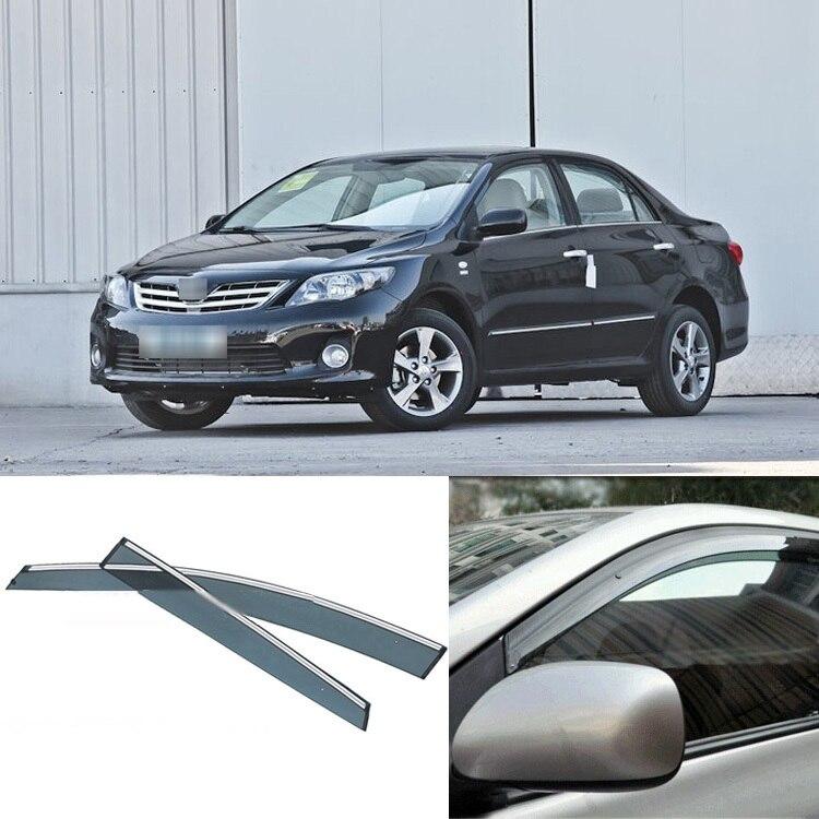 New 4pcs Blade Side Windows Deflectors Door Sun Visor Shield For Toyota Carolla<br><br>Aliexpress