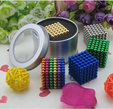 216pcs 3mm 5mm neodymium magnetic balls spheres beads magic cube magnets puzzle birthday present for children - vacuum package.