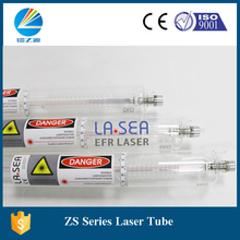 Chinese 130w sealed co2 glass laser tube spare parts 1650mm variable diameter 80mm for CO2 machine