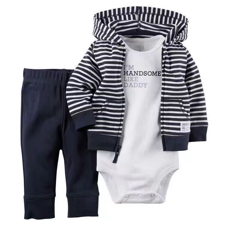 2017 Kids Boys Clothing Set Spring Autumn 3 Piece Sets Hooded Coat Suit Baby Girls Clothes Set Spring Cotton Chidren Clothes<br><br>Aliexpress