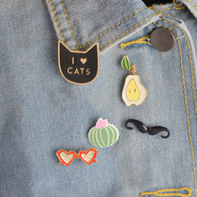 5 pcs/set Cactus Pear Cat Kitten Moustache Sunglasses Brooch Pins Button Denim Jacket Collar Lapel Badge Fashion Jewelry Gift(China)