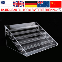 6 Tier Nail Display Stand Clear Transparent Acrylic Nail Polish Salon Exhibition Wall 6 Layers Nail Polish Rack Storage Shelf(Hong Kong)