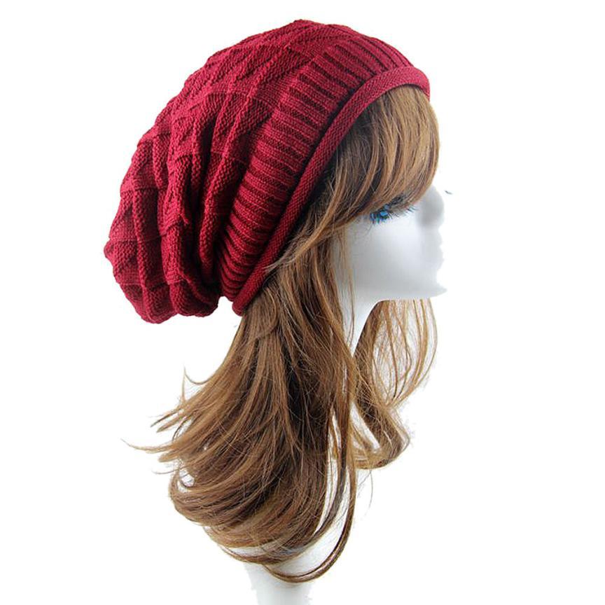 Dec 2 Amazing 2016 New Fashion Women Knit Baggy Beanie Hat Winter Casual Warm Ski Cap High QualityÎäåæäà è àêñåññóàðû<br><br><br>Aliexpress