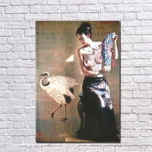 Beautiful Nude Chinese Girl Wall Picture Oriental Beauty 100% Hand Painted Oil Painting On Canvas Cheap Price Wholesale(China)