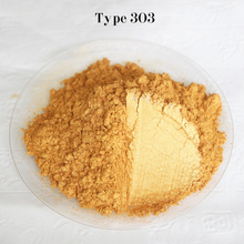Type 303 Gold  Pigment Pearl powder dye ceramic powder paint coating Automotive Coatings art crafts coloring for leather