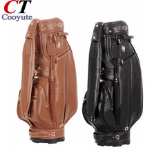 Cooyute New Golf Bags High quality PU Sport Bags in choice 9.5 inch MAJESTY Golf Cart bag Free shipping(China)