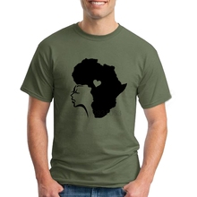 Hombre African Hair Love Men T Shirts New Arrival Normal T Shirts Slim Fit Short Sleeve Tee Shirts Awesome T Shirt Designs(China)