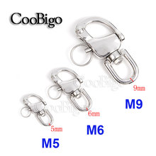 Pick Size M5 M6 M9 Stainless Steel Swivel Jaw Snap Shackle Sailing Boat Marine Hardware Fitting Engineering Tool Parts #FET016