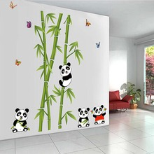 3D cute panda bamboo wall decor for nursery living room wall pictures