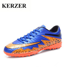 Hot Turf Football Shoes For Men Children Indoor Court Shoes Boys Men Soccer Boots Cheap Soccer Cleat Leather Athletic Sneaker