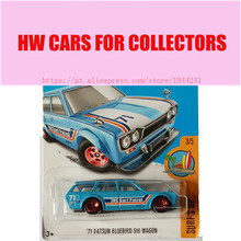 2017 Hot Wheels 1:64 71 datsun bluebird 510 wagon Metal Diecast Cars Collection Kids Toys Vehicle For Children Juguetes(China)