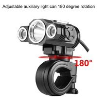 Deroace Adjustable High Light Bicycle Headlight USB Charging Lamp 3 Mode X3 T6 LED Bike Head Light Cycling Front Lamp HOT Sales