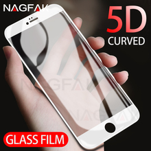 Buy NAGFAK 5D Curved Tempered Glass iPhone 8 7 Plus 6 6s Plus Anti-Shatter Screen Protector Film iPhone 6 6s 7 8 Glass Film for $3.39 in AliExpress store