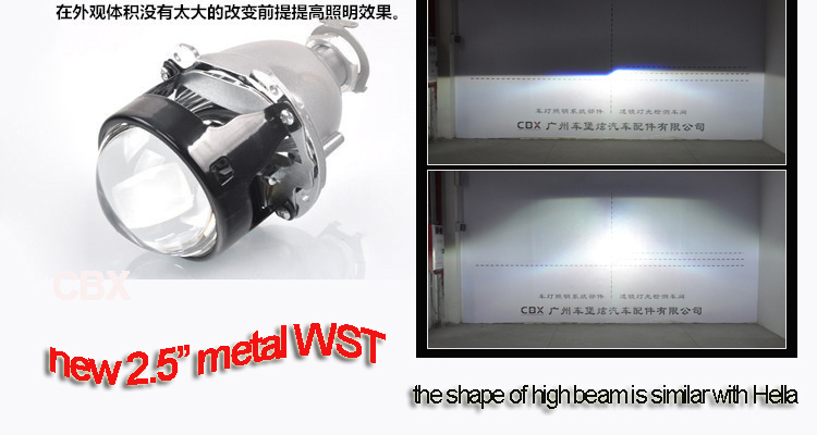 2.5 inches new metal leader WST projector lens 8