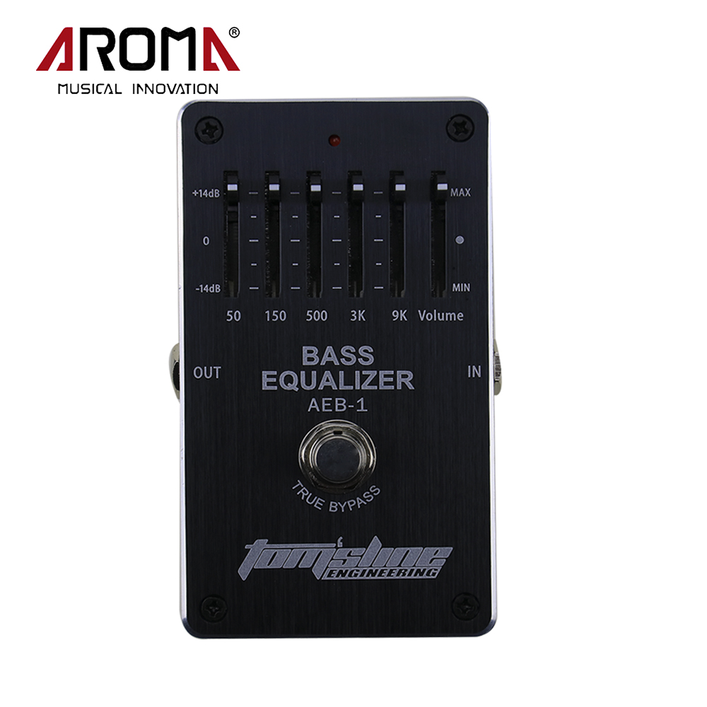 Aroma AEB-1 Electric Bass Effect Pedal 5-band EQ Exclusive Music Instrument<br>