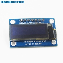0.91'' 128x32 IIC I2C White OLED LCD Display DIY Module 3.3V 5V For PIC