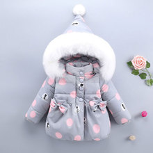 Winter Hooded Jackets For Newborns Girl Fashion 2017 Warm Down Coat Outerwear Toddler Baby Clothing Infant Clothes High Quality(China)