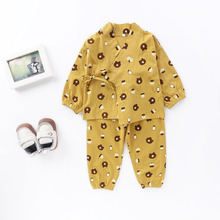 Baby Girls Clothes Newborn Pajamas Children's Clothing Set Japanese Tradional Style Cotton Clothes for Boys Infant Kids Boys(China)