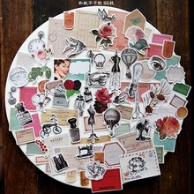 86pcs/pack Retro Style Decorative die cuts Stickers for DIY Scrapbooking Planner/Card Making Craft
