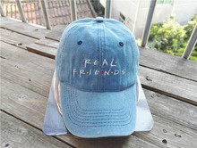 Belababy 2016 Real Friends Baseball Caps Curved Chapeau Visor Dad Hats Casquette Brand Bone Fashion Hats
