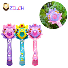 Fully-automatic bubble machine magic wand bubble gun toy bubble with music and light children party birthday gift(China)