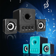 Multimedia Computer PC Desktop Laptop Speakers 2.1 Bass 3.5mm with Subwoofer