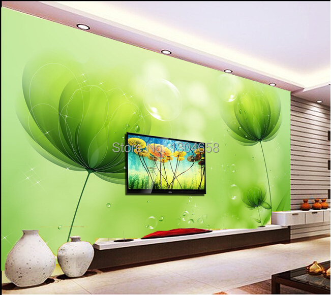 Custom large wallpaper, simple style of modern green Papel de parede. The living room TV wall bedroom contact vinyl wallpaper<br>