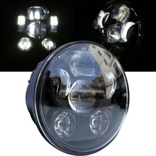 5.75 INCH Round 45W Motorcycle head lights High/Low Beam HID LED Front Driving headlamp for Harley Sportster,Dyna