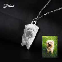 Pet Customized Pendants & Necklaces Stainless Steel Personalized Necklace Nameplate Photo Engraved DIY Jewelry Dropshipping(China)