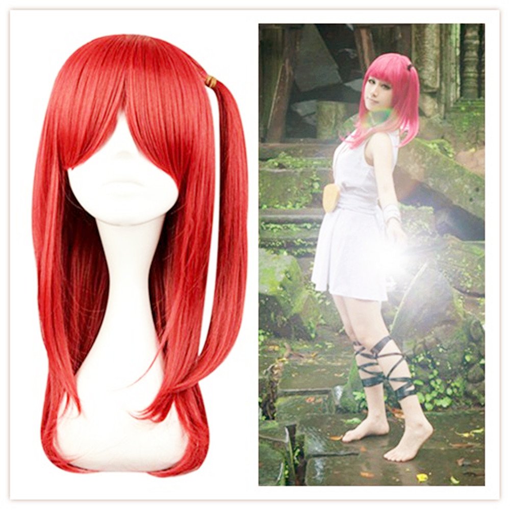 60CM Synthetic Hair Natural-Looking Thin Hair Straight Wigs Cosplay Party Magi The Labyrinth of Magic Morgiana Roseate Figure<br><br>Aliexpress