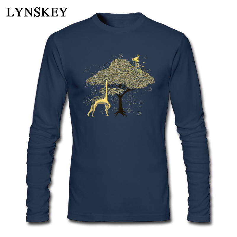 Lost in Africa Round Collar Boy T-Shirt Summer/Fall Summer Tops Tees Long Sleeve Special 100% Cotton Fabric Normal Tee-Shirt Lost in Africa navy