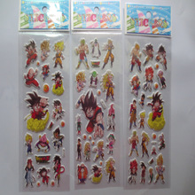 3 Sheets Set Cartoon Dragon Ball 3D Foam Waterproof Decal Bubble sticker Laptop Doodle Diary Decor Skateboard Pvc toys for Kids