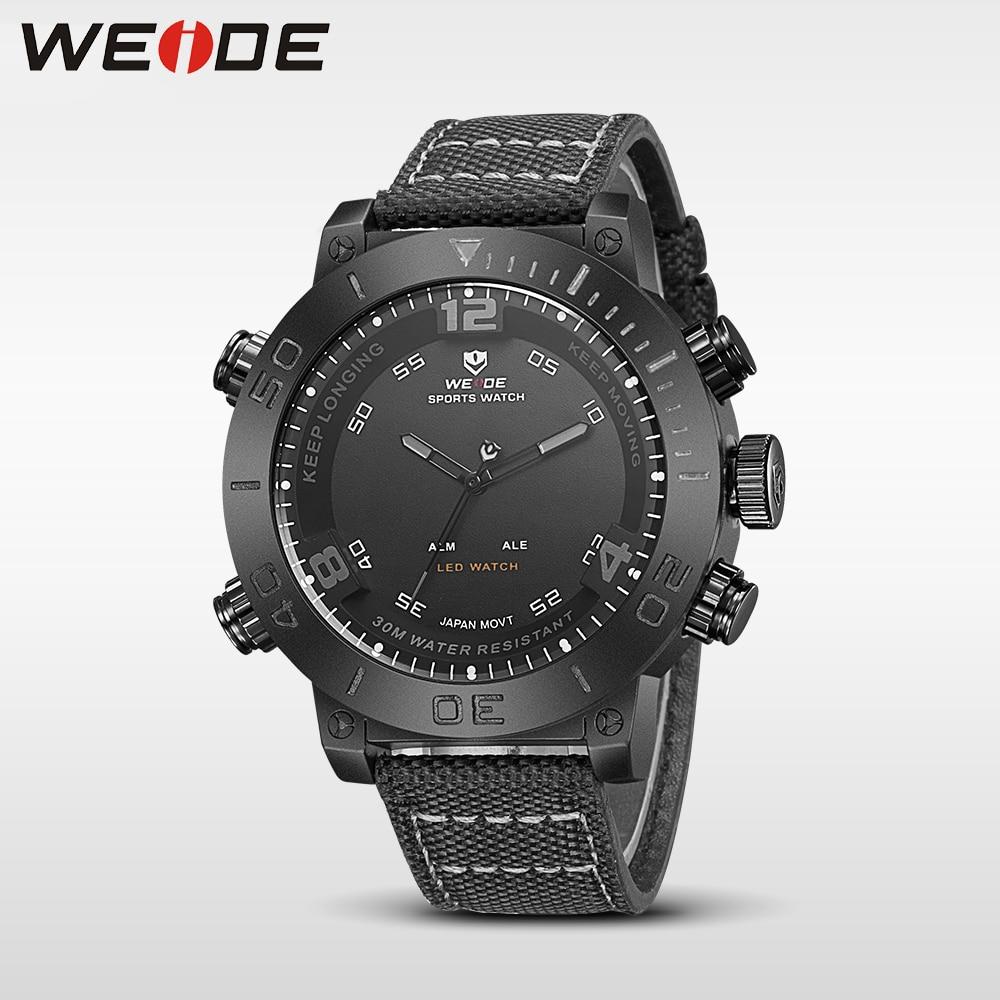 WEIDE casual genuine  watch luxury quartz watch sport digital nylong army clock watch waterproof role quartz men sports watches<br>