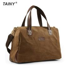 2017 New Canvas leather Multi-functional briefcase Men Casual Vintage Travel Field Men's Handbag Shoulder bag T534