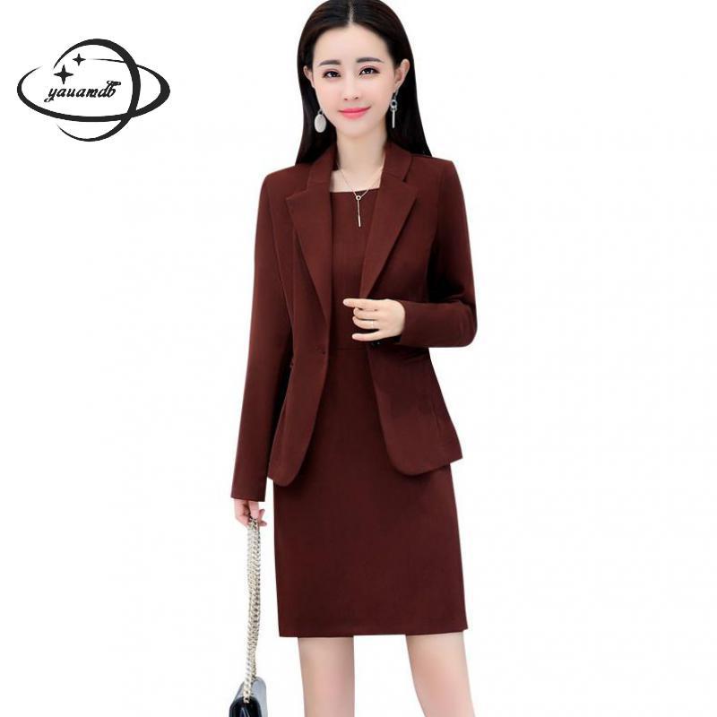 Yauamdb Women Dress Suits 2018 Spring Autumn S 4xl Female Blazer